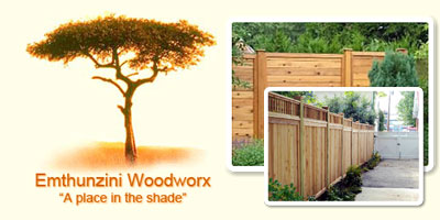 Emthunzini Wood Works | Wooden Fencing Johannesburg