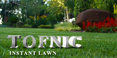 Tofnic Instant Lawn advert