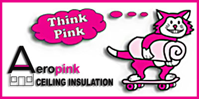 Aeropink ceiling insulation
